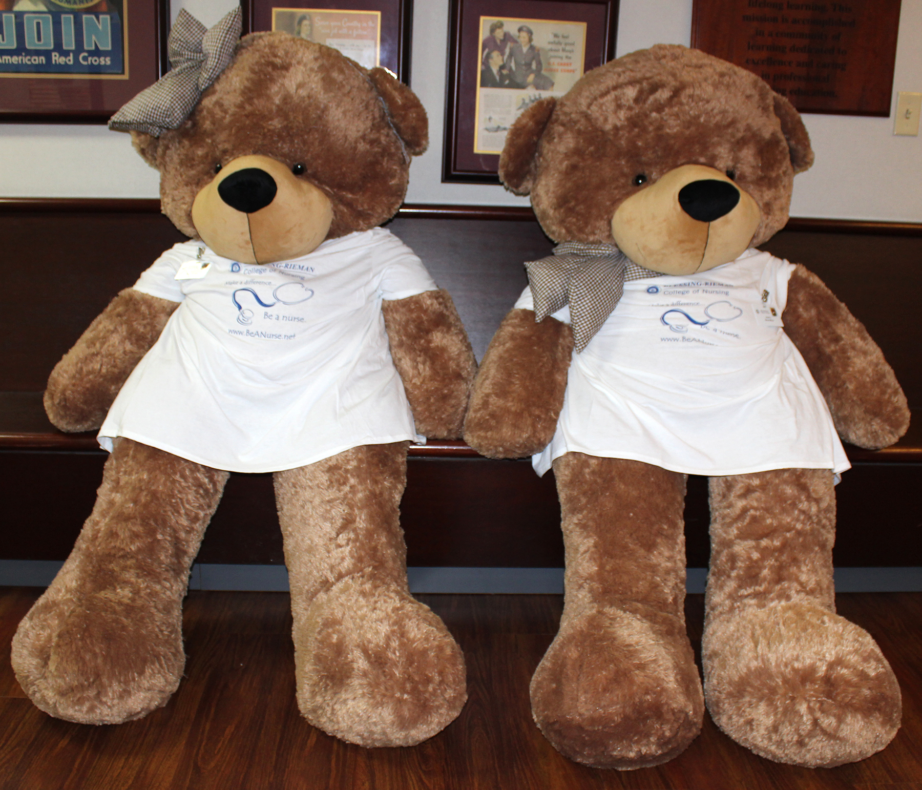 Flo BrownBear on left and Dorsey BrownBear on right