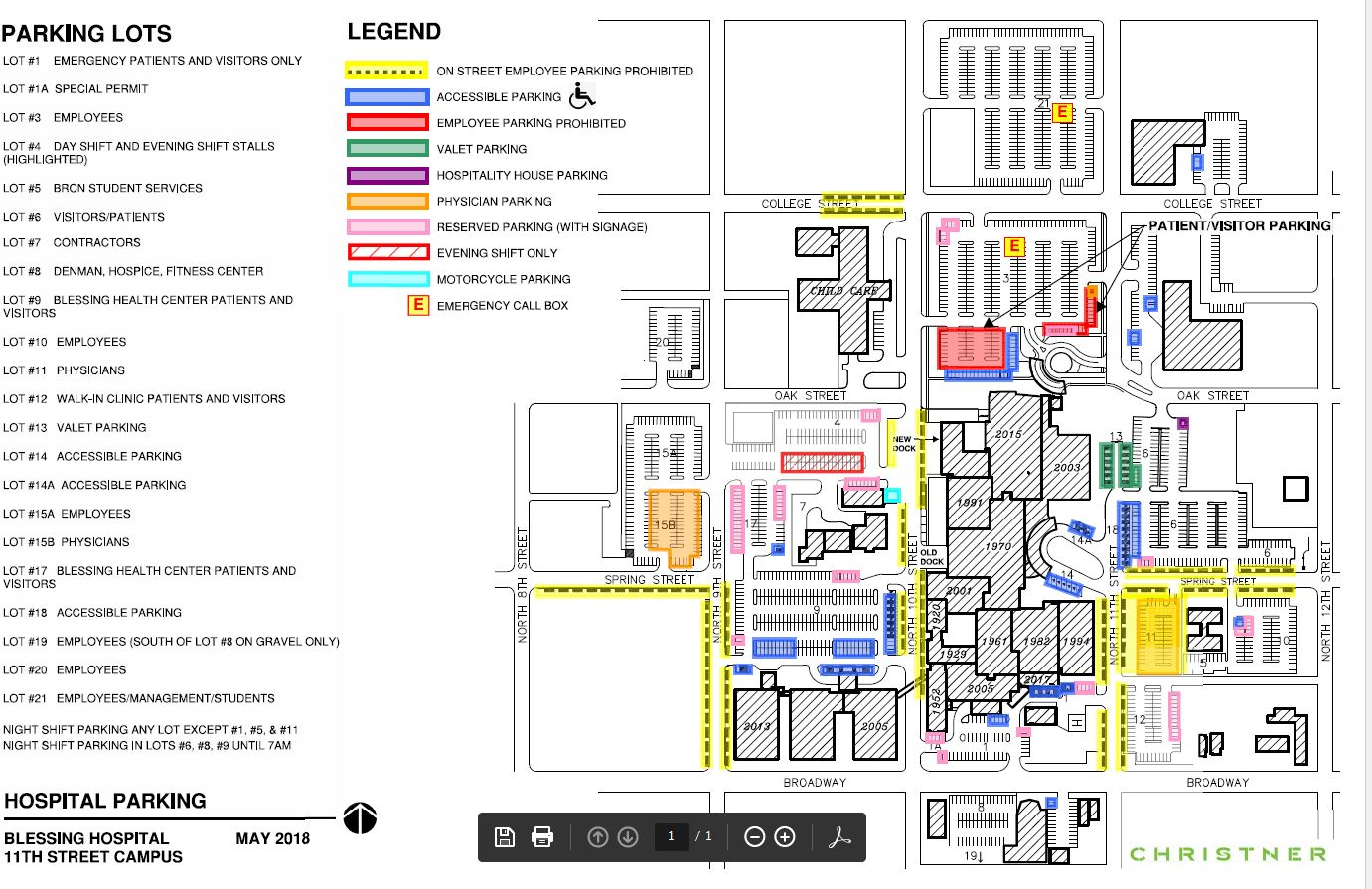 Illinois College Campus Map.Campus Information Maps Blessing Rieman College Of Nursing